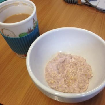 Bircher (oats mixed with yoghurt) a typical breakfast or lunch
